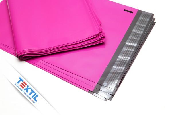 farbige Versandbeutel aus Folie in neon pink