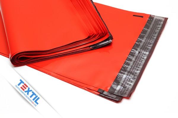 rote Versandtaschen aus Coex Folie