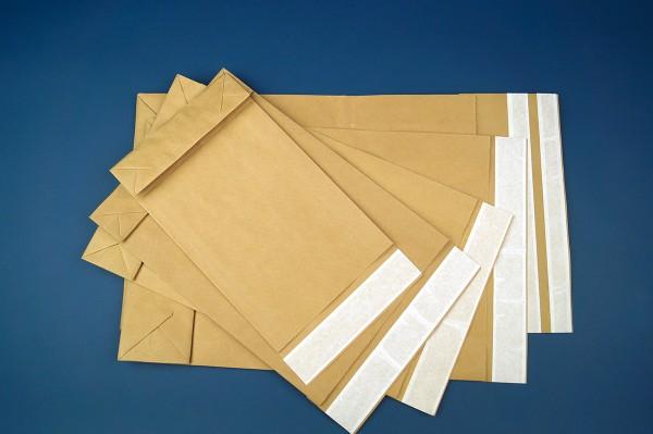 Papier-Versandtaschen mit Seitenfalte